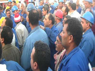 Workers Continue Strike in Alex Textile Company