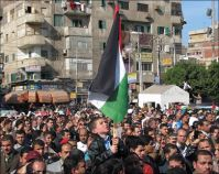 Thousands march in Rafah, Damascus in solidarity with Jerusalem