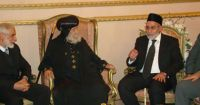 Dr. Badie Heads Muslim Brotherhood Delegation; Offers Condolences on Death of Pope Shenouda III