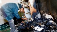 Settlers torch mosque in Al-Mughayyir village near Ramallah