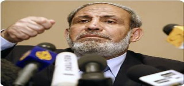 Zahhar urges Egypt to resume its reconciliation efforts