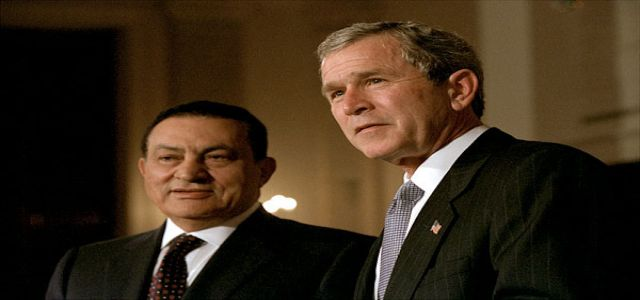 President Bush Meets with President Hosni Mubarak of Egypt