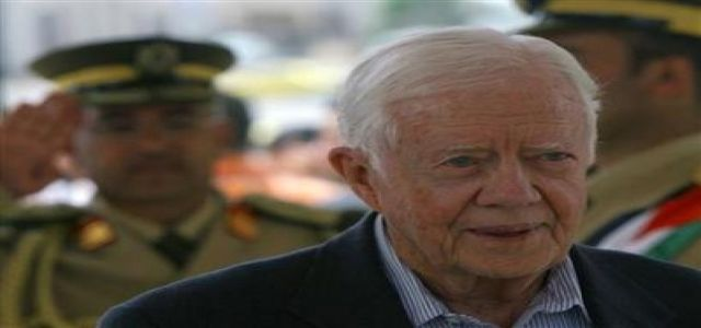 Carter calls Gaza blockade a crime and atrocity