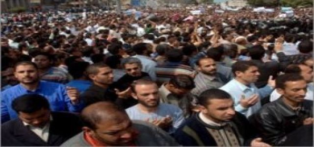 Massive Gaza Demonstration In Cairo Amid Tight Security Measures