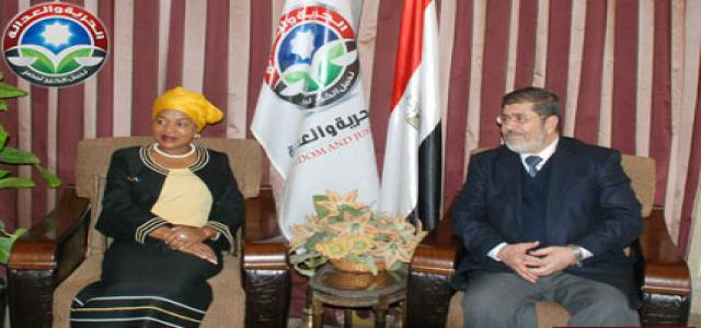Morsi Meets Former South African Vice President
