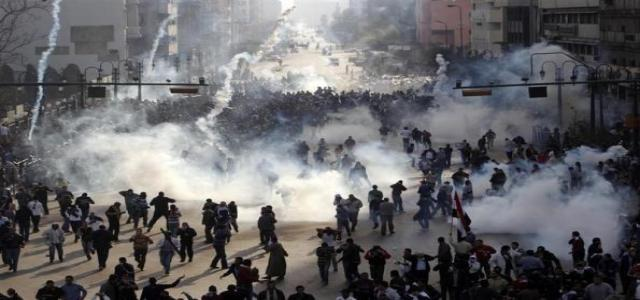 Muslim Brotherhood's FJP: Ministry of Interior Facing Peaceful Protests with Violence
