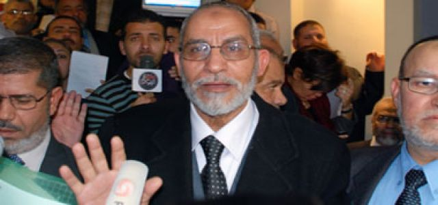 Badie to Reuters: MB  condemns violence in all its forms and calls for a united front to combat intolerance