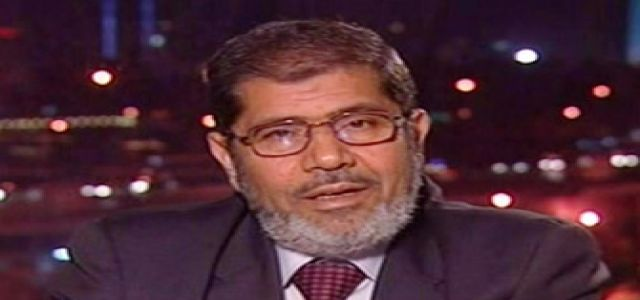 Morsy: Talks With Israel waste of time and resistance is only effective means