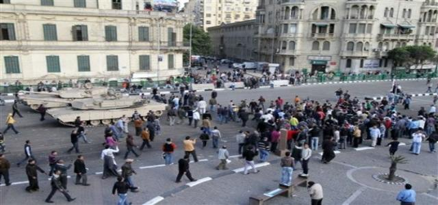 Tahrir Protests Attacked by Thugs