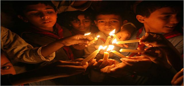 Children protest power outage as Gaza plunges into darkness