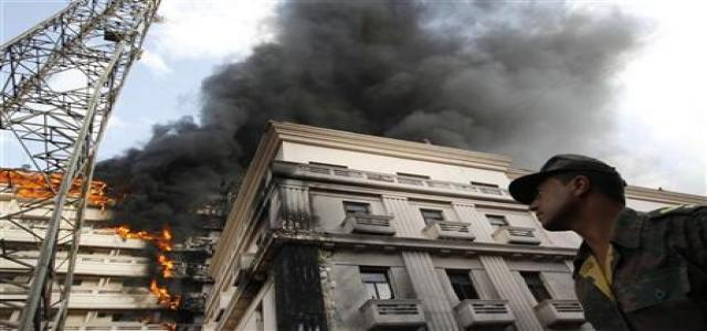 Interior Ministry set ablaze described as counter-revolutionary