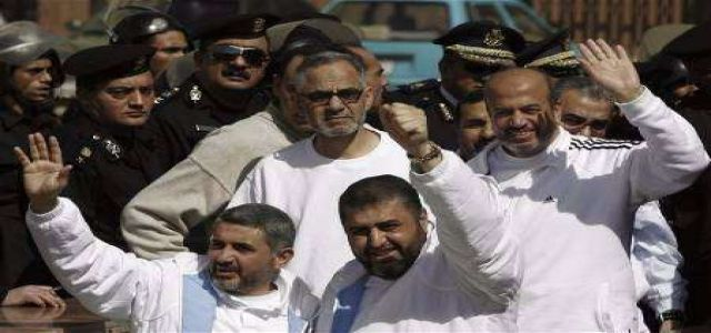 The next MB's hearing postponed to November 3 to highlight innocence of Khayrat al-Shater and companions.