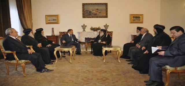 After Meeting With Church Leaders, Morsi: National Unity Key Objective in Presidential Program