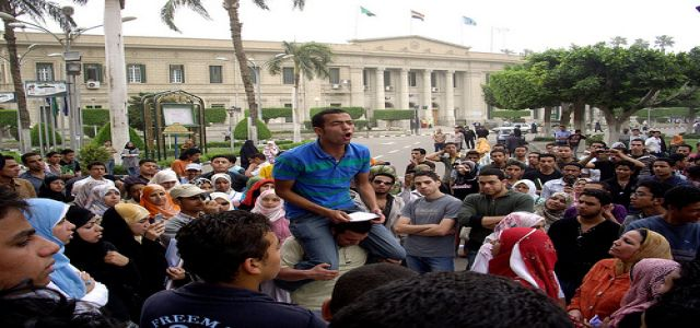 Egypt: Students protest to MB students' expulsion