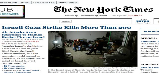 Mideast Coverage at the New York Times
