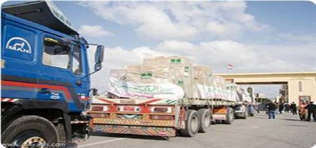 Malaysian aid convoy arrives in Gaza Strip