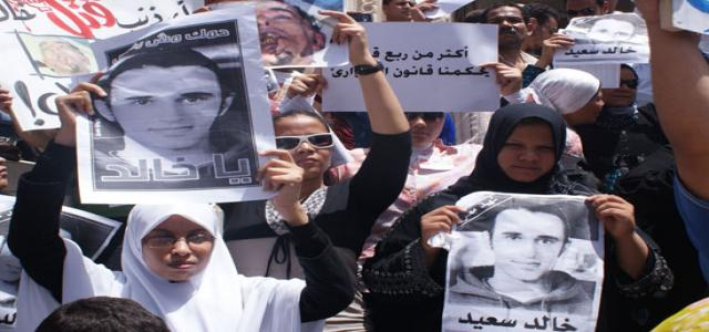 Activists protest in solidarity with Khaled Saeed and Mohamed Turk