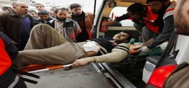 Ten Palestinians wounded east of Khan Younis