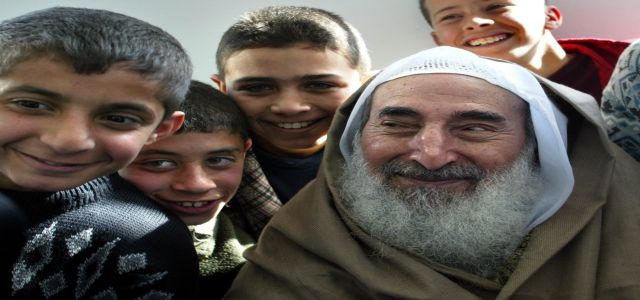 Palestinian young men recall childhood memories with Sheikh Yassin