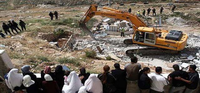 Palestinian families  face demolition  nightmare