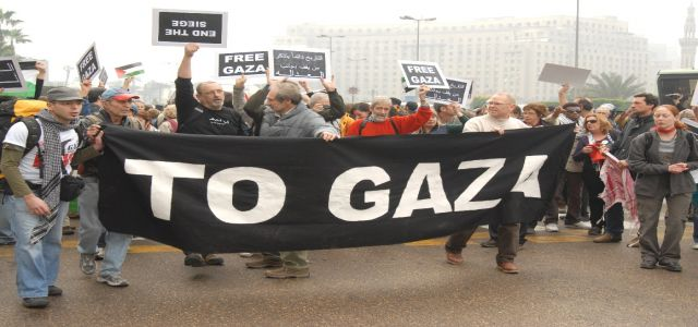 European campaign against Gaza blockade visits presidential palace in Warsaw