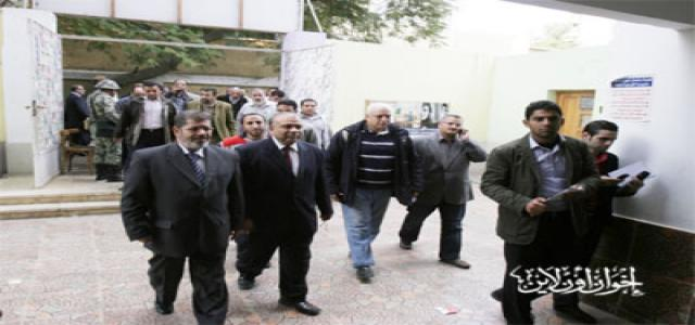 Morsi and Katatni During Inspection Tour: People are the Real Winner in Egypt's Elections