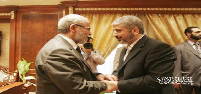 MB Chairman Discusses Palestinian Reconciliation With Hamas Delegation