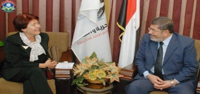 Morsi, Karre Vow Stronger Egyptian-Swedish Relations